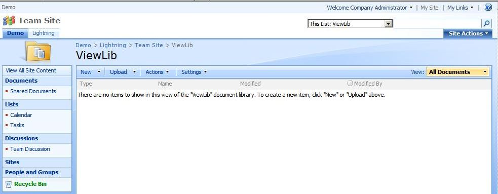 This document library will be used to store the list views.