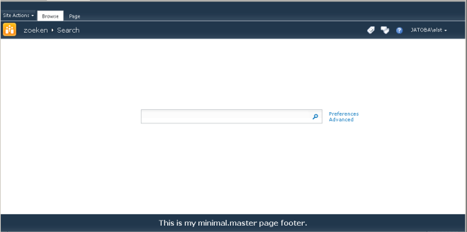 minimal.master with footer