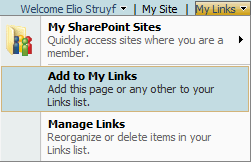 My Links Functionality in SharePoint 2007