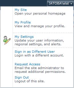 SharePoint 2010 - User Context Menu