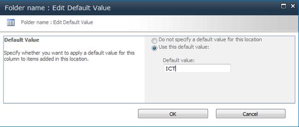 Default column value