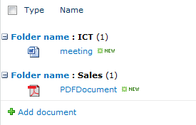 Group by on folder name