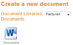 Web Part showing documents from the Facturen library