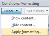 Apply formatting
