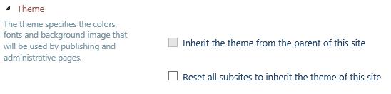 SharePoint 2013 Theme Inheritance