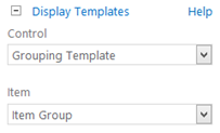 Grouping templates