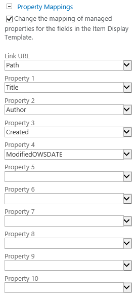 Property mappings