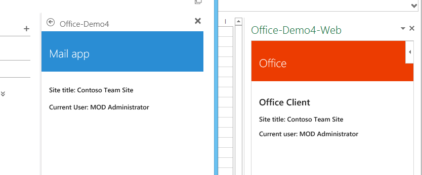 App opened in OWA and Excel