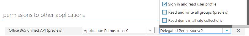 Unified API permissions