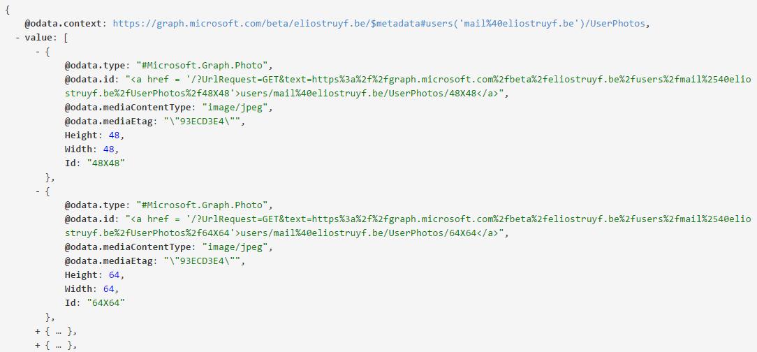 API output all photos