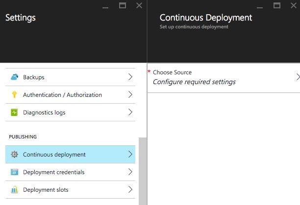 Configure continuous deployment
