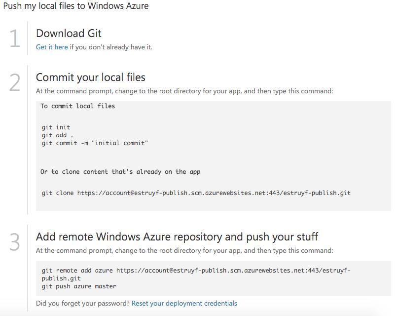 Git repository information