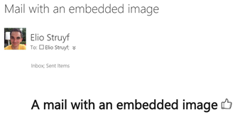 Mail message with an embedded image