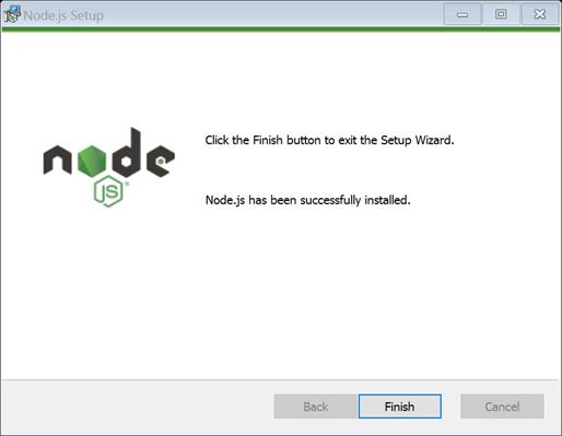 Windows installer finished