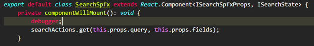 Debugger statement in your code