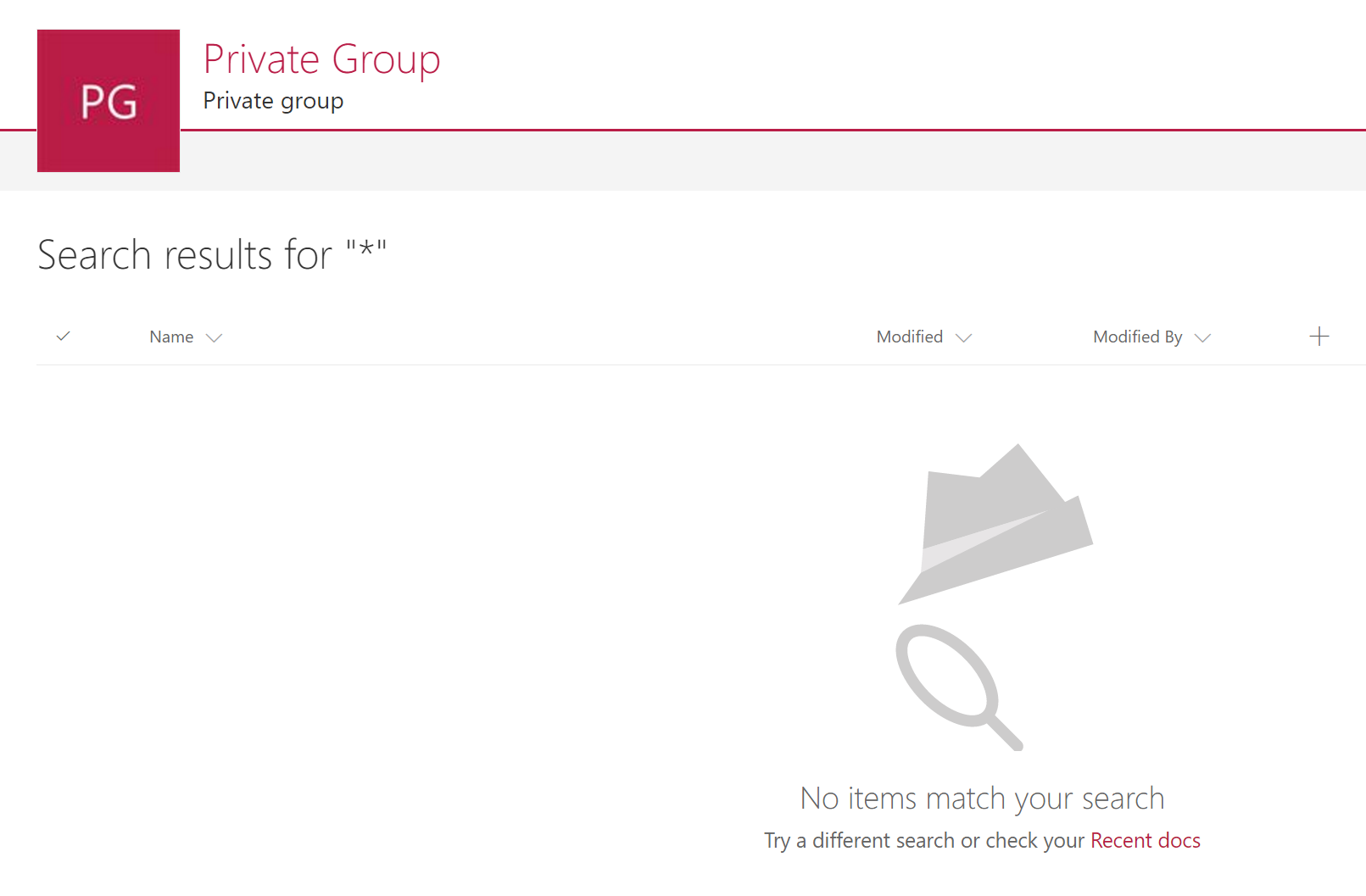 Private group search
