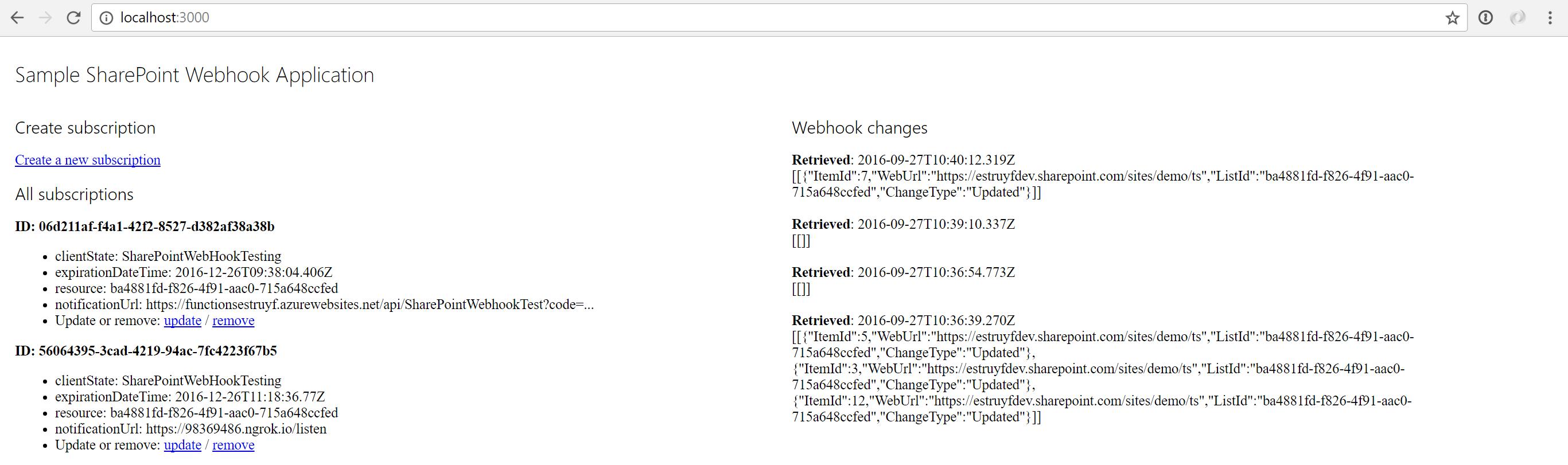 Webhook application