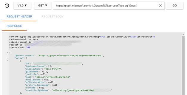 Guest user API call