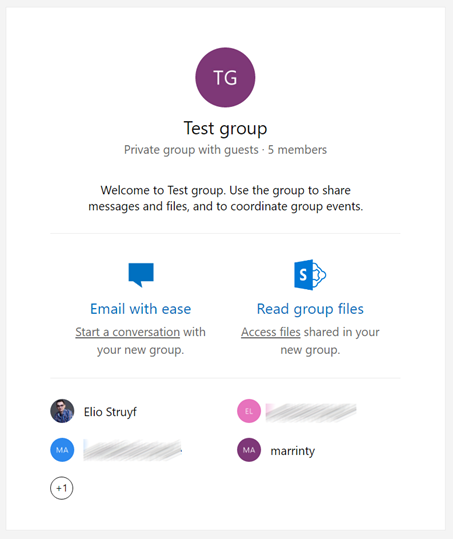 Group invitation mail