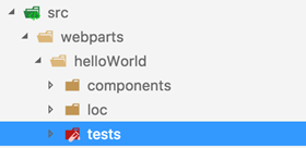 Tests folder located in your project