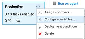 Configure variables