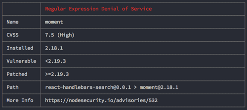 nsp cli tool test result