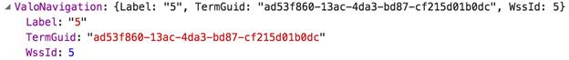 Managed metadata single value