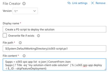 Script file creation
