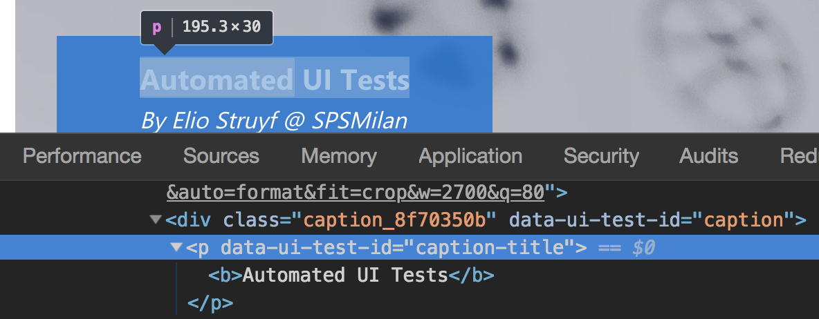 Custom data attribute for UI testing