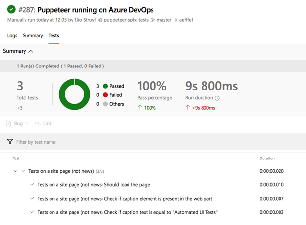 Setting up Puppeteer to run on Azure DevOps for your