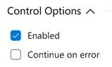 Azure DevOps - continue on error task option