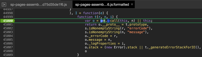 Debugging SP JS code