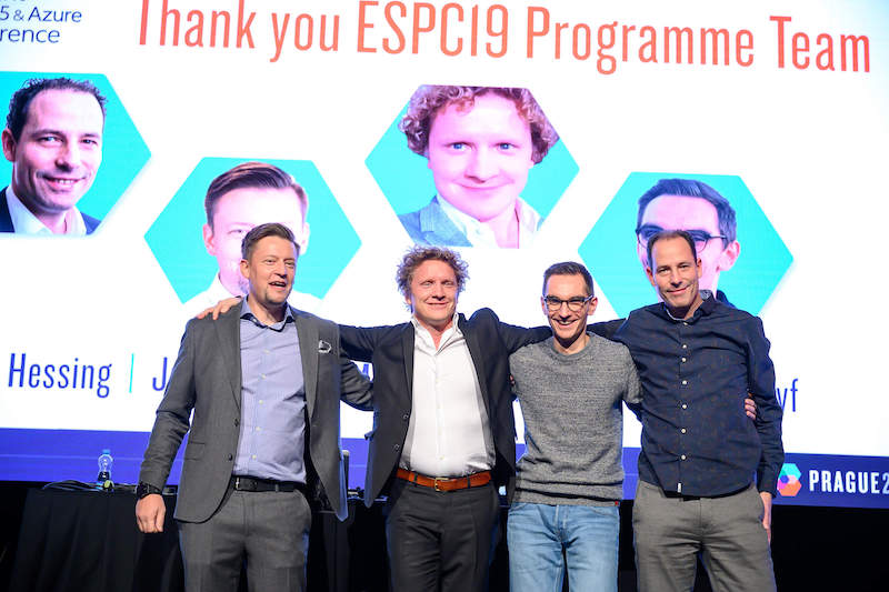 On stage at ESPC 19