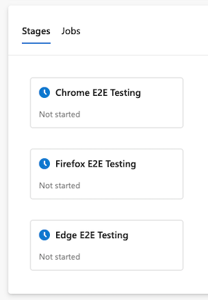 Stages for each browser